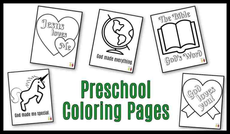 Preschool Coloring Pages - PDF Printable