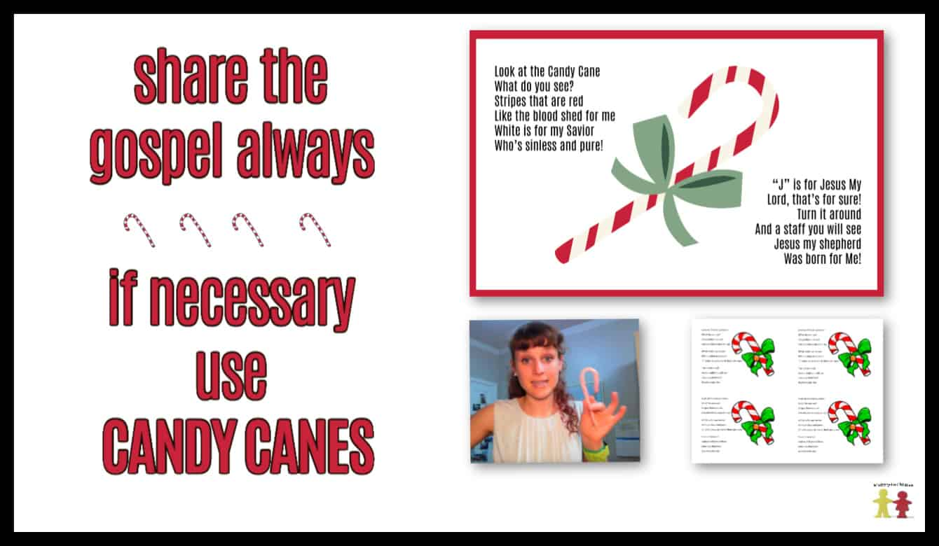Candy Cane Poem About Jesus Free Printable Pdf Handout Christmas Story Object Lesson For Kids