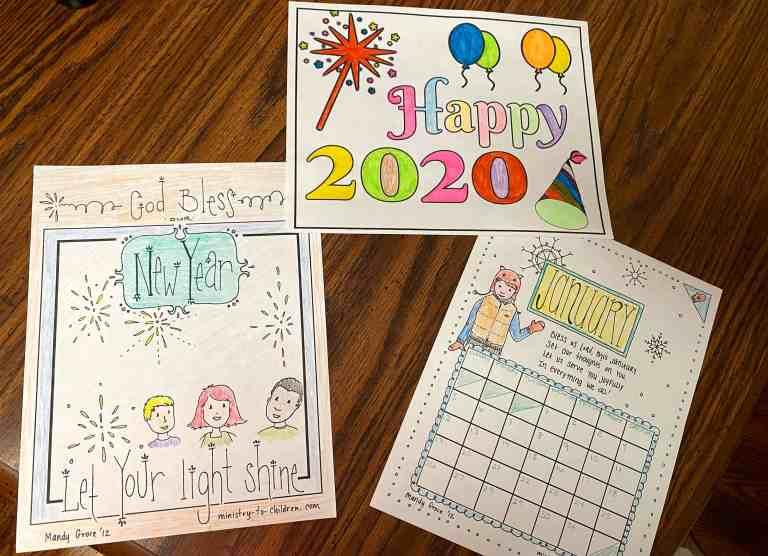 new years coloring pages for 2020