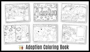 free adoption coloring pages for kids