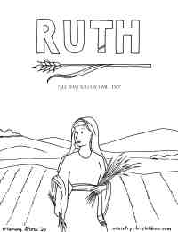 Ruth Bible Coloring Page