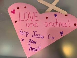 Love one another heart crafts