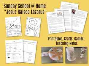 Kids Bible Study Jesus Raised Lazarus