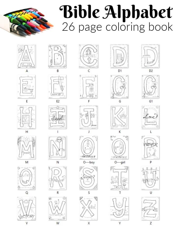 Bible ABC coloring book