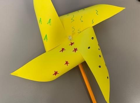 """Craft Two: """"Holy Spirit Pinwheel"""""""