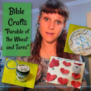 Sunday school craft on parable of the wheat and tares