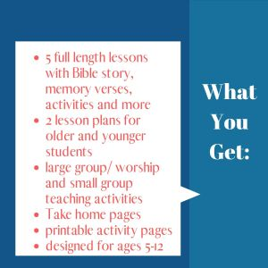 Back to School Bible Curriculum for Kids