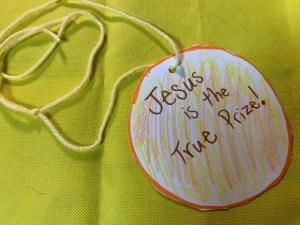 jesus is the prize sunday school craft