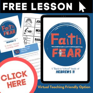 Faith Over Fear Sunday School Lessons