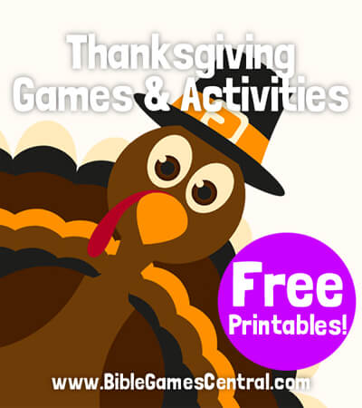 Thanksgiving games for Sunday school