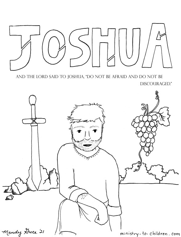 Joshua Bible Coloring page for kids