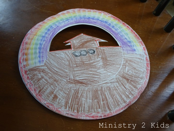 Noah S Ark Paper Plate Basket Craft Ministry 2 Kids