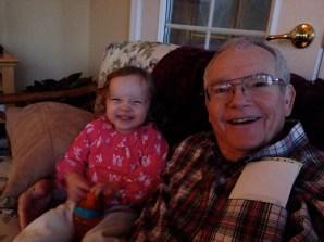 Lila (2) and Grandad