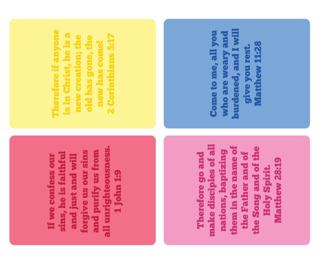 3 x 4 Inch Bible Verse Cards