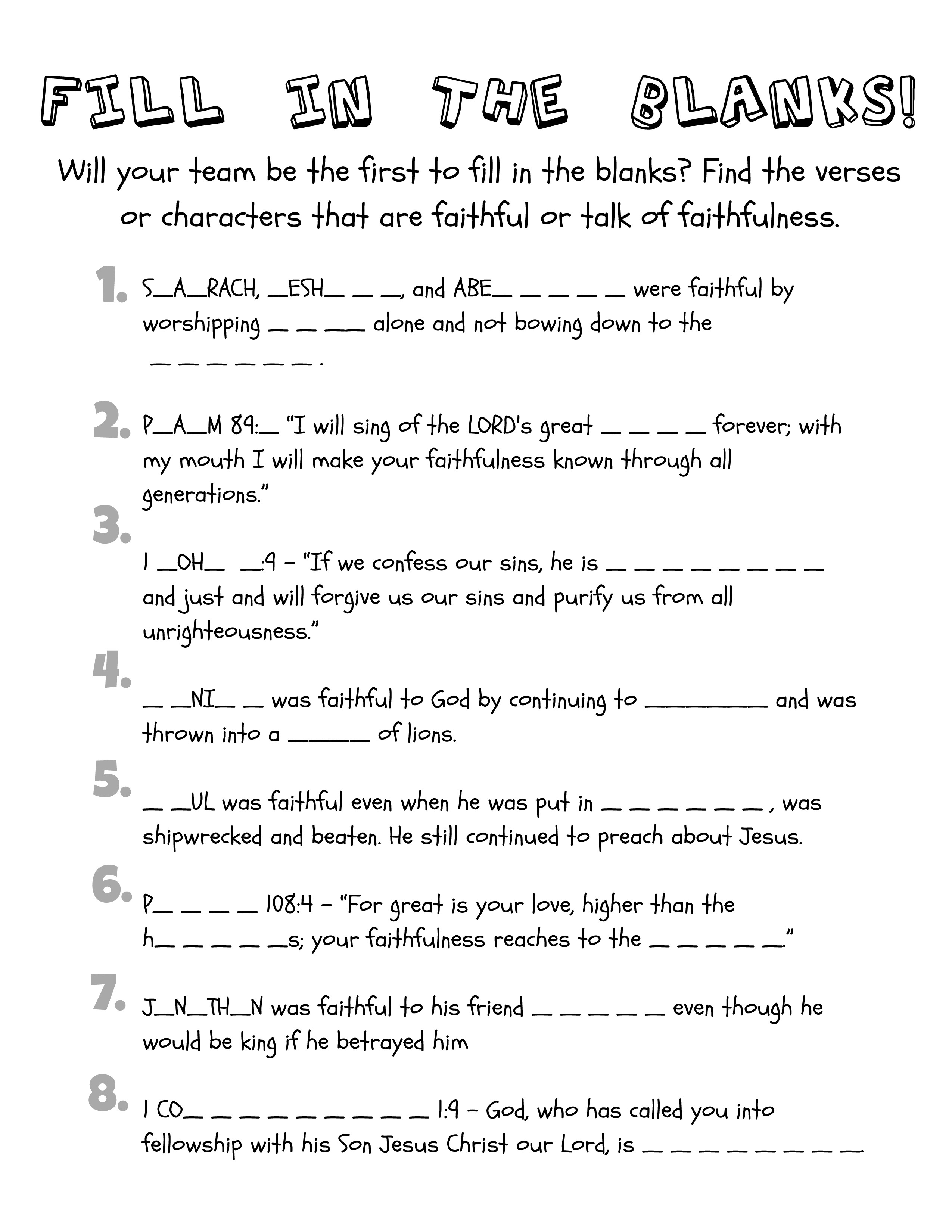 Ruth And Boaz Activity Sheets