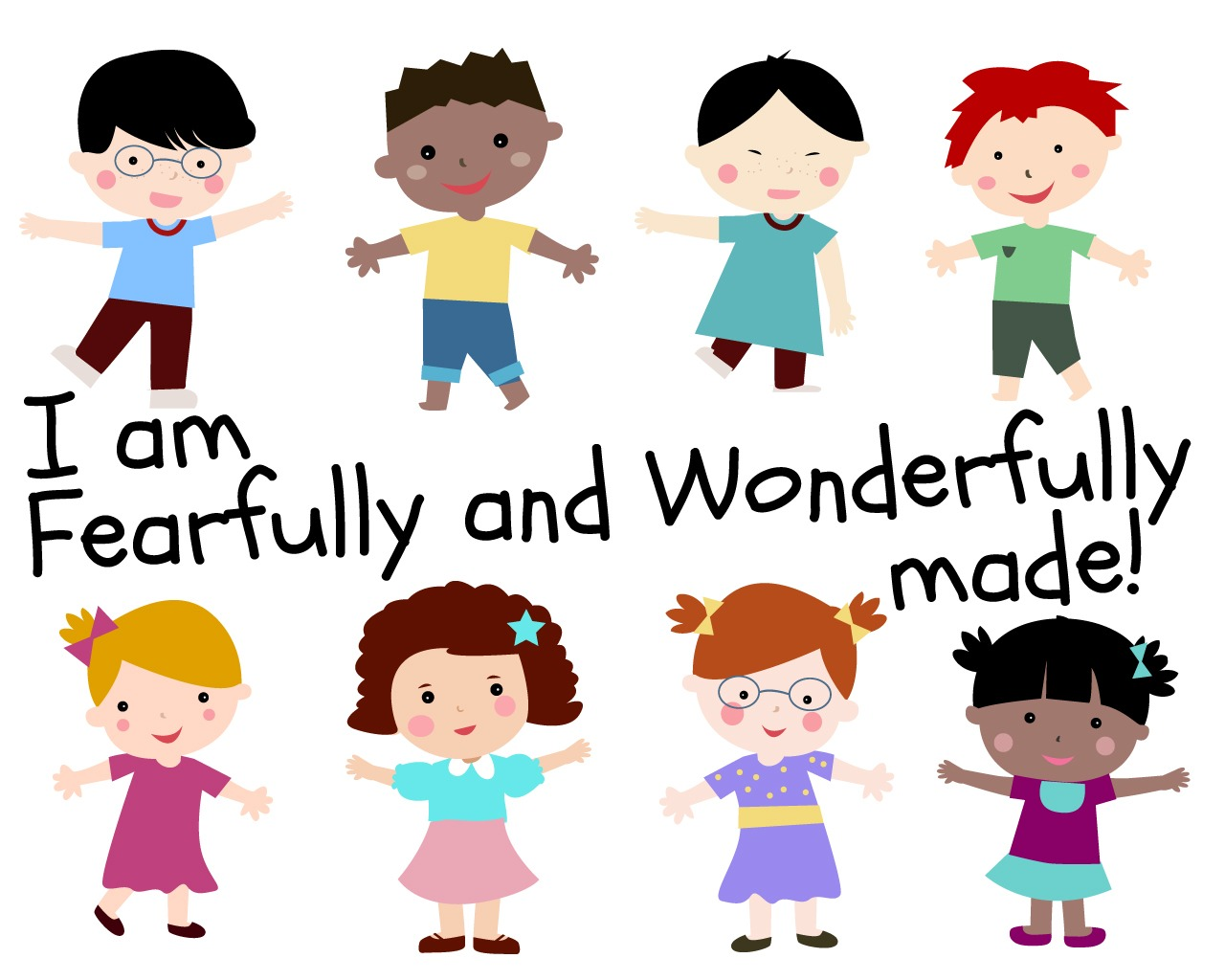 I Am Fearfully And Wonderfully Made Childrens Lesson On