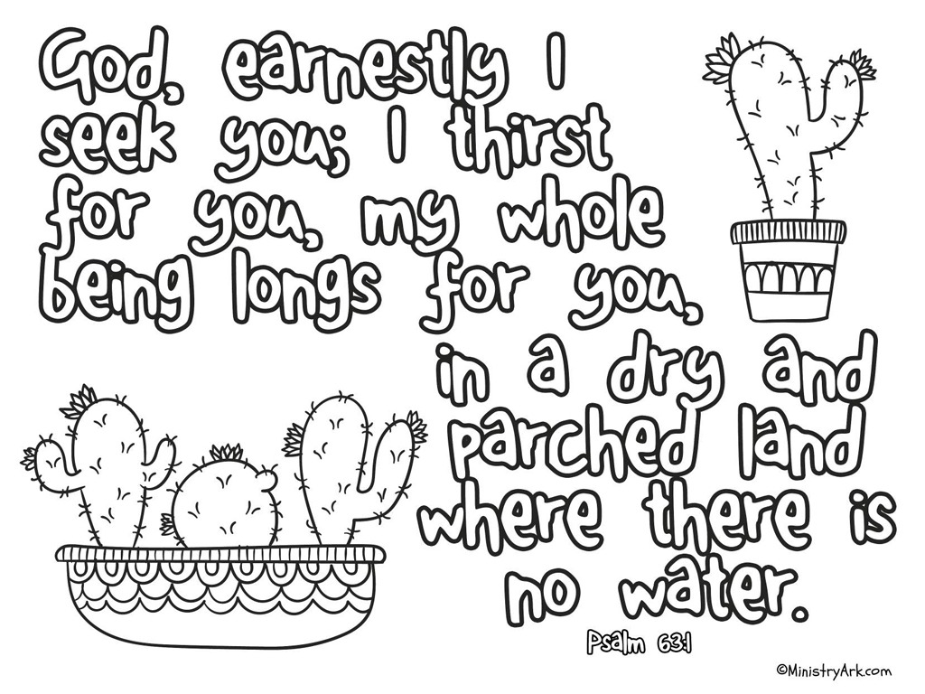 Dry And Parched Land Printable Psalm 63 1 Ministryark