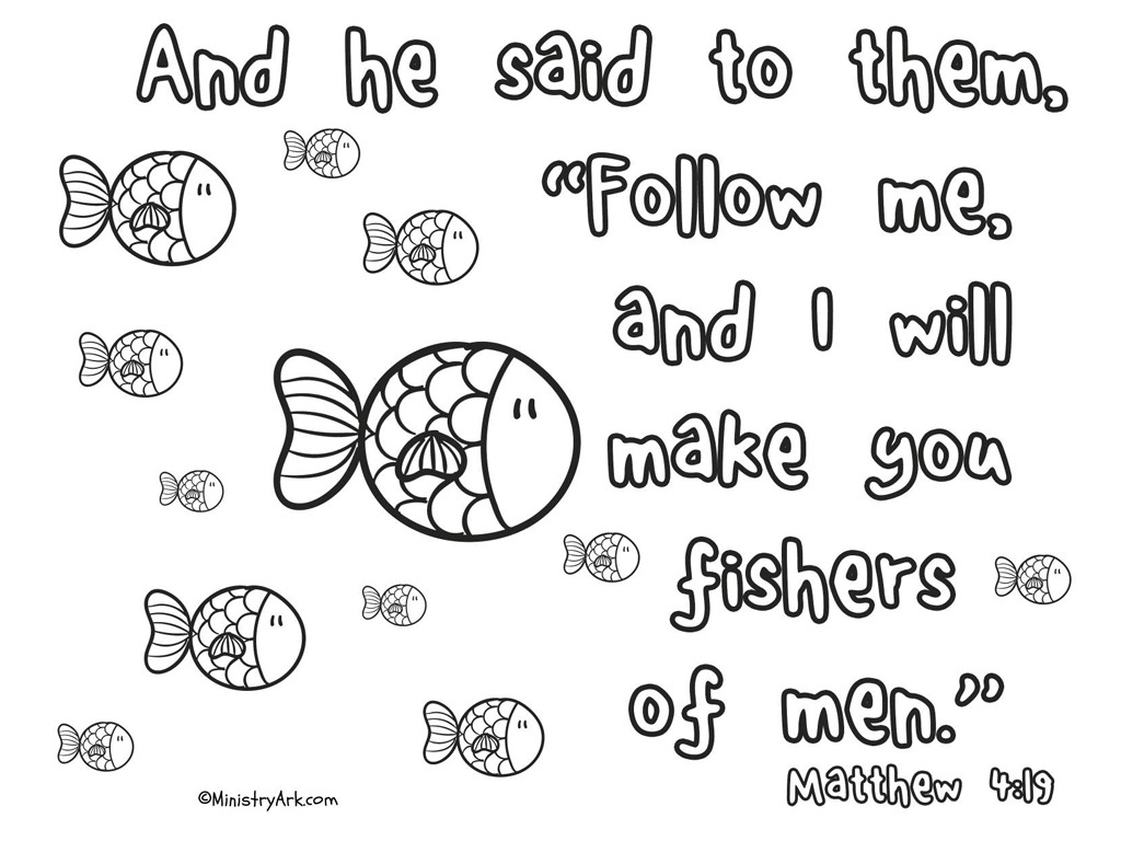 Fishers Of Men Printable Matthew 4 19 Ministryark