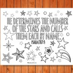 'He Calls the Stars by Name' Printable