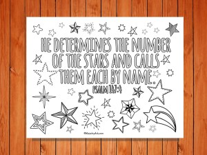 He calls the Stars By Name Printable low res