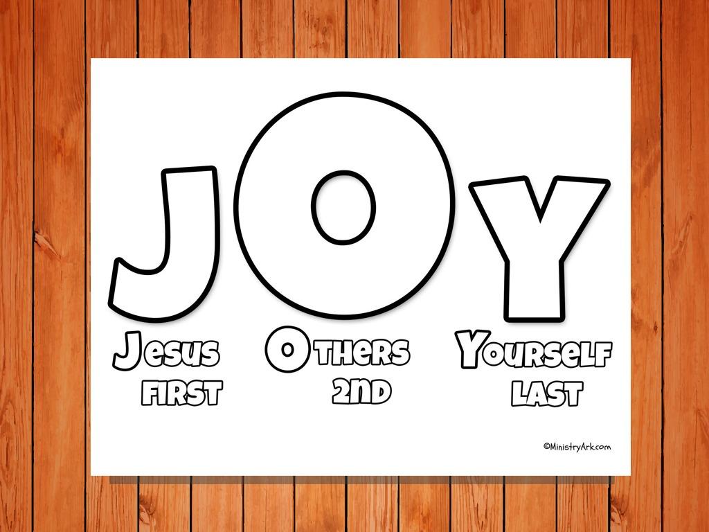 J O Y Printable Ministryark