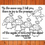 'Joy of the Angels' Printable (Luke 15:10)