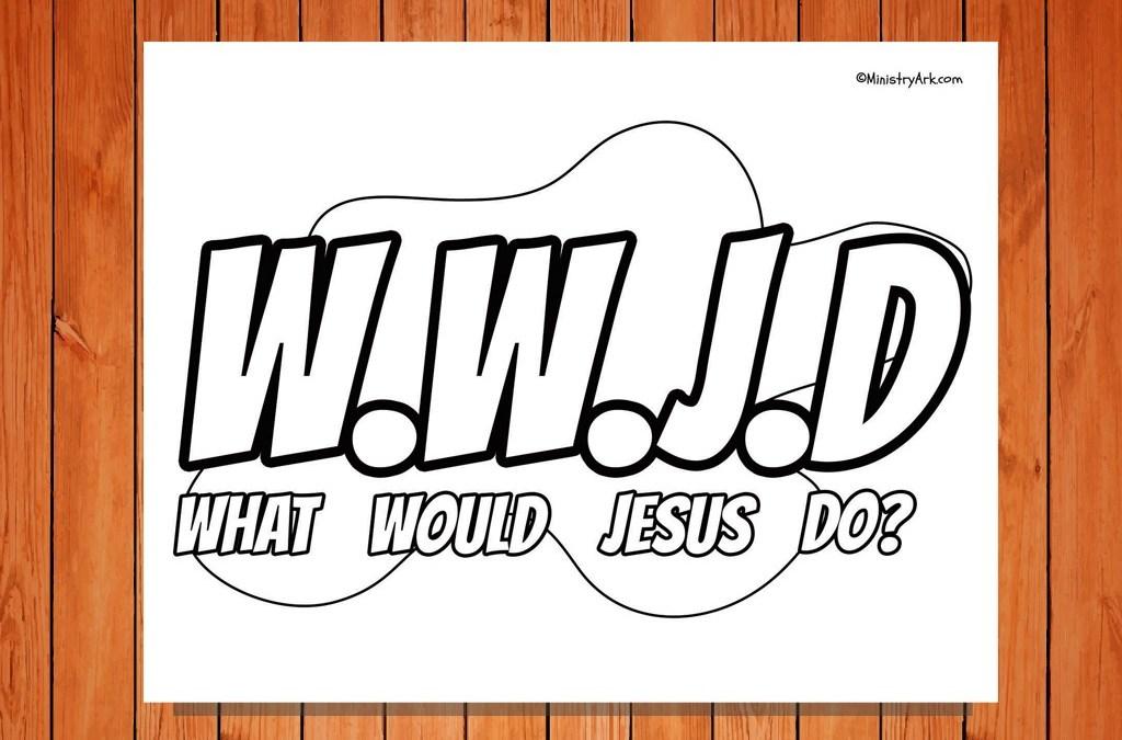 WWJD Printable Coloring Page