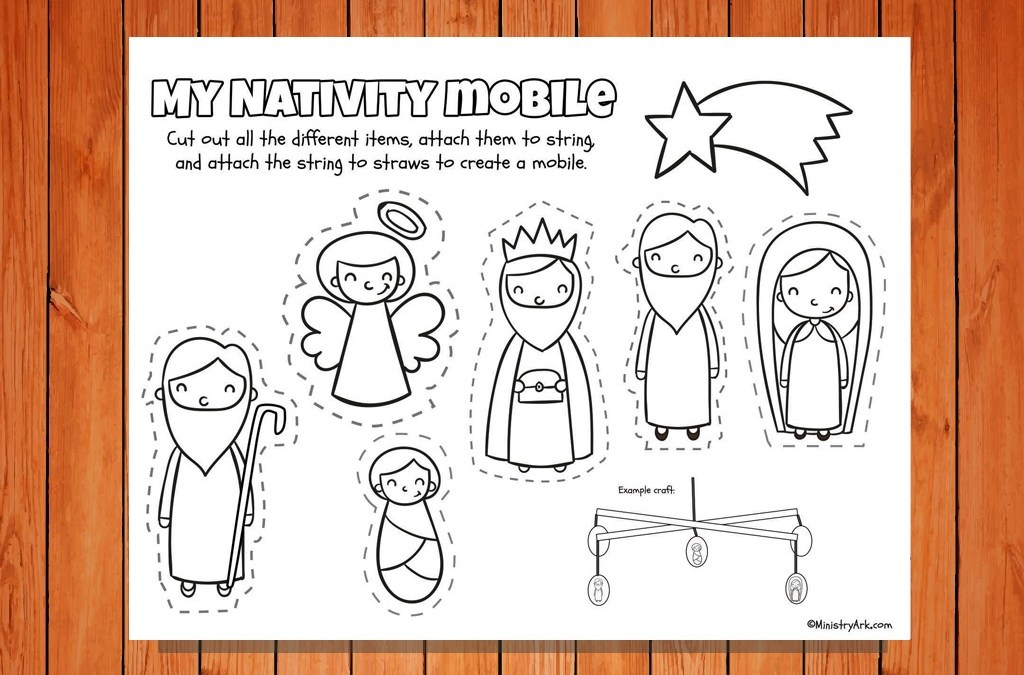'My Nativity Mobile' Craft Printable