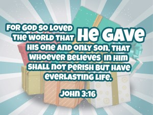 he gave