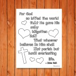 Valentine John 3:16 Printable