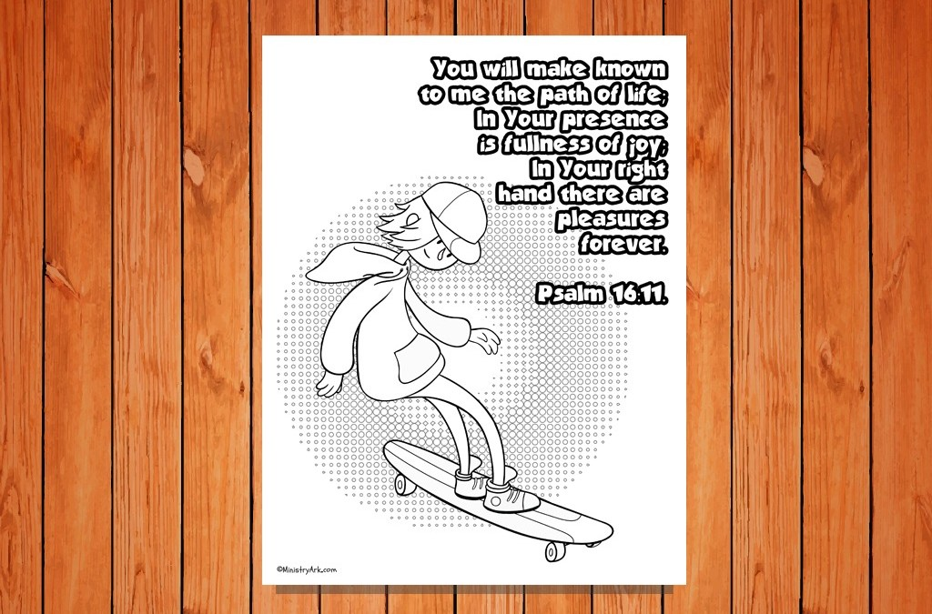 'Path of Life' Printable (Psalm 16:11)
