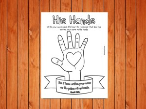 His Hands Printable low res