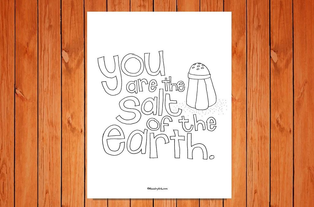 'Salt of the Earth' Printable (Matthew 5:13)