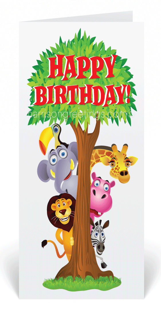 Happy Birthday Safari Animals Card 80414 Ministry