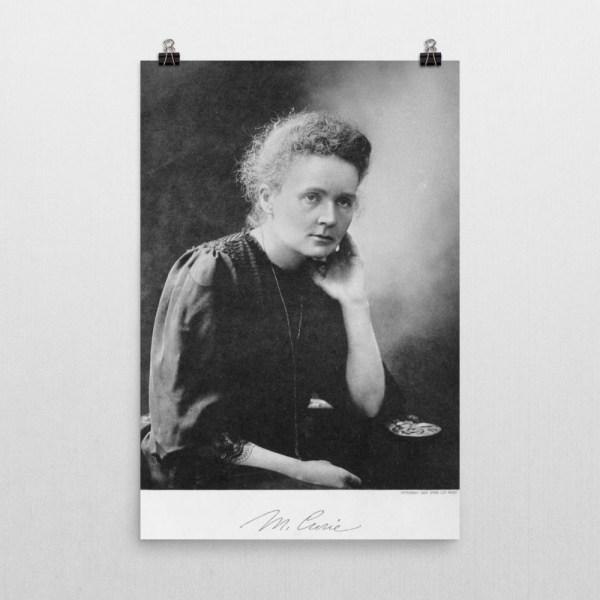 Marie Curie Portrait Poster