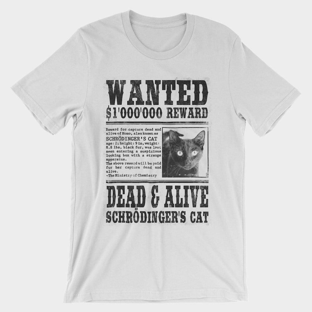 Wanted Schrödingers Cat T-Shirt