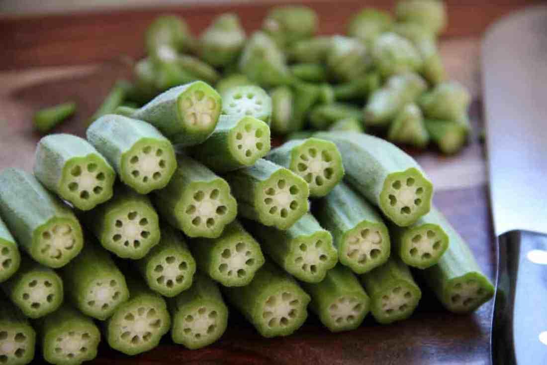 stuffed okra - cut