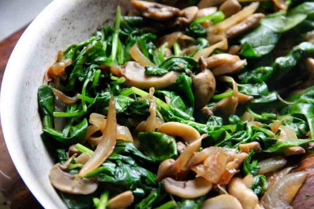spinach mushroom quesadillas