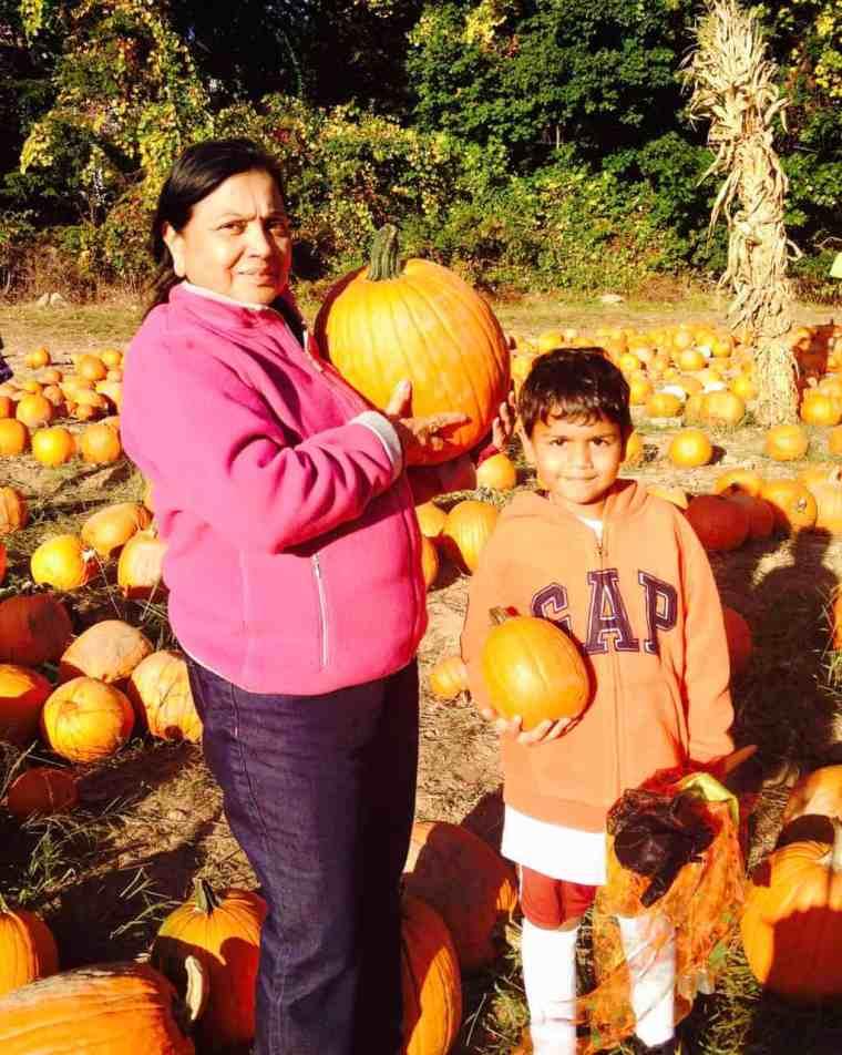 pumpkin parathas