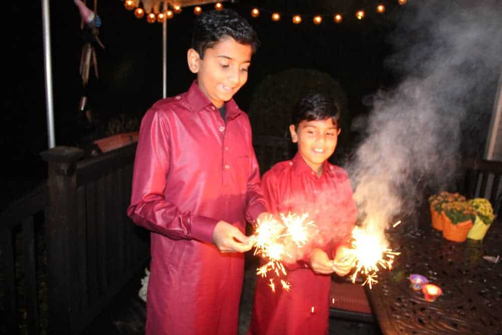 Diwali celebrations -Sparklers