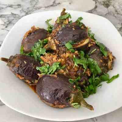 Stuffed Baby Eggplant – Instant Pot