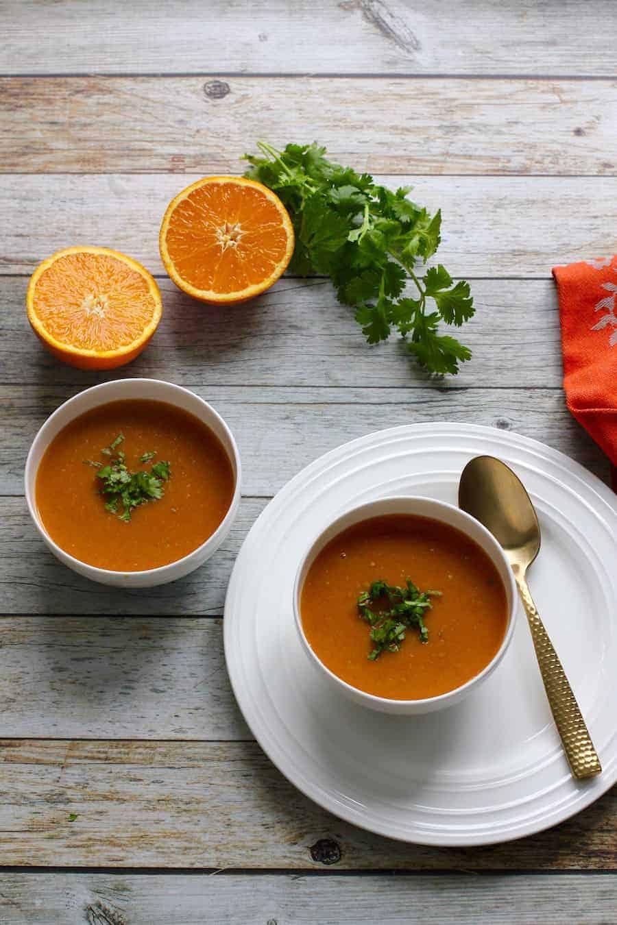 citrusy lentil soup