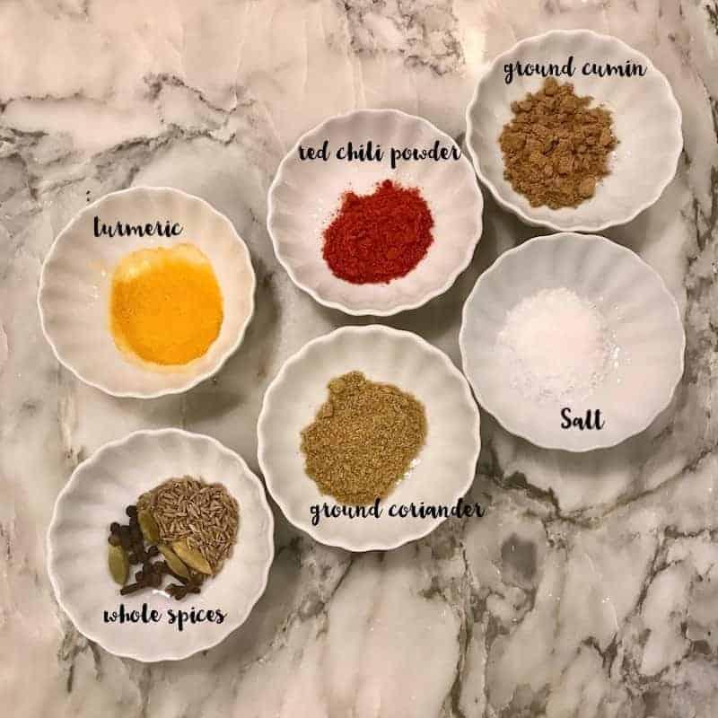 chicken korma - spices