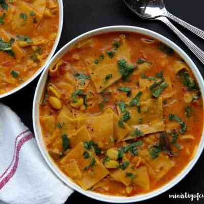 Daal Dhokli {Lentil stew with homemade noodles} – Instant Pot