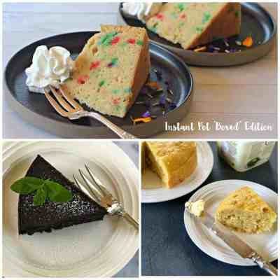 "Instant Pot ""Boxed"" edition: cake, brownies, and corn bread"