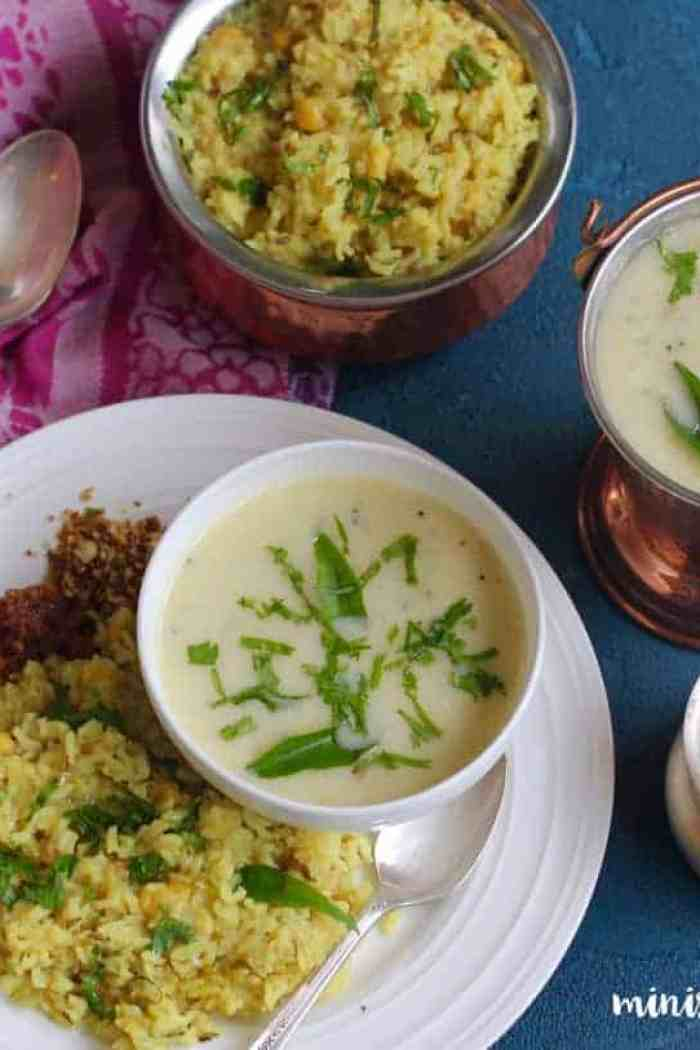 Gujarati Kadhi and Khichdi – Instant Pot