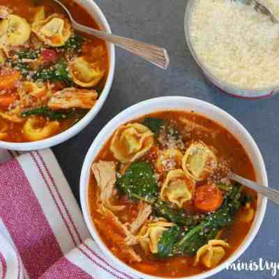 Chicken Tortellini Soup – Instant Pot