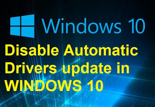 Disable Auto Drivers Update in Windows10