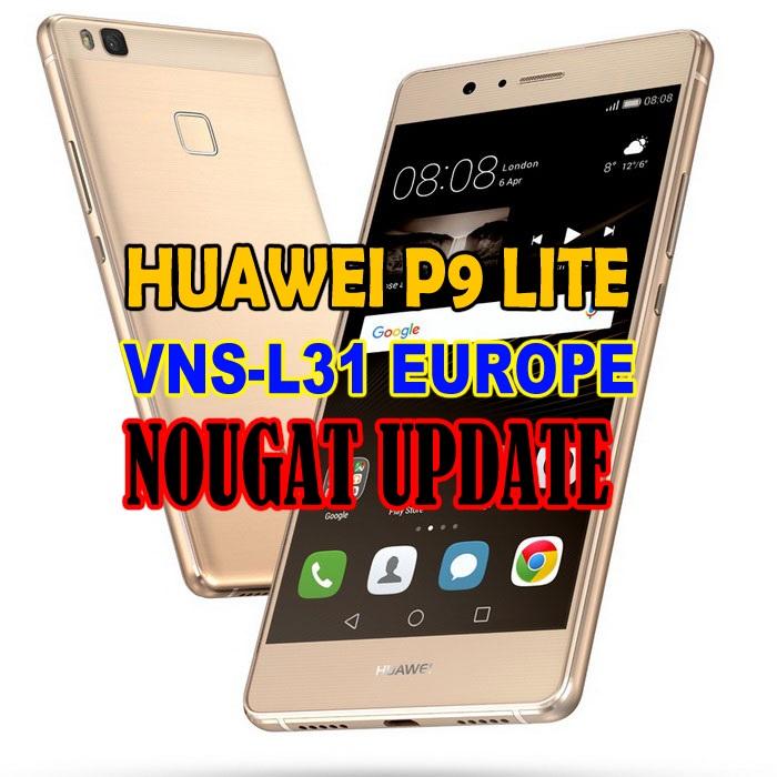 Huawei P9 Lite VNS-L31 Nougat Firmware B336 EMUI 5.0 (Europe-Beta)