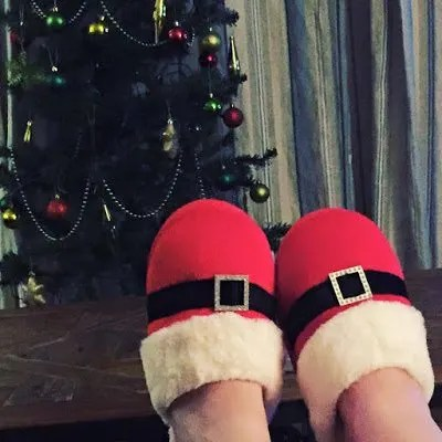 A Winter break in Craster, complete with festive slippers